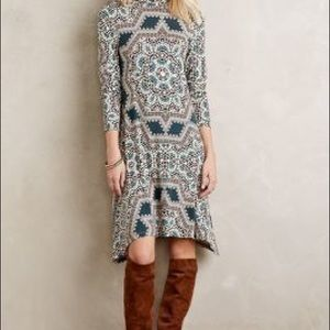Anthropologie Dresses - Anthropologie Maeve turtleneck swing dress XS